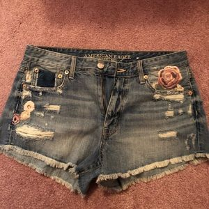 Vintage AE hi rise denim shorts